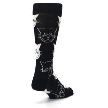 Image of Black and White Cats Men's Dress Socks (side-1-back-21)