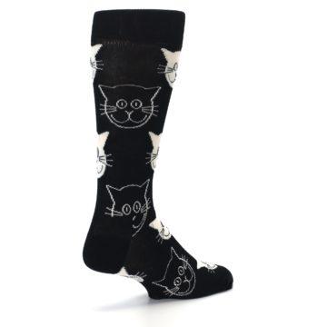 Image of Black and White Cats Men's Dress Socks (side-1-back-22)