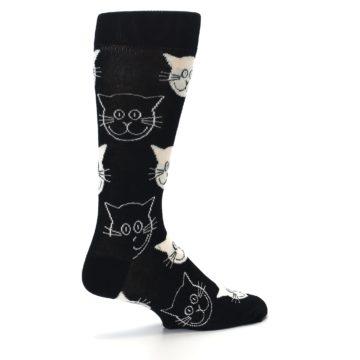 Image of Black and White Cats Men's Dress Socks (side-1-23)