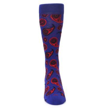 Image of Violet Red Paisley Men's Dress Socks (front-04)