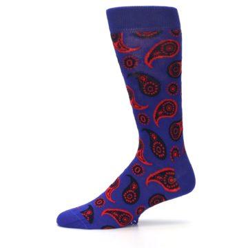 Image of Violet Red Paisley Men's Dress Socks (side-2-11)