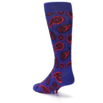 Image of Violet Red Paisley Men's Dress Socks (side-2-back-15)
