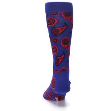 Image of Violet Red Paisley Men's Dress Socks (back-17)