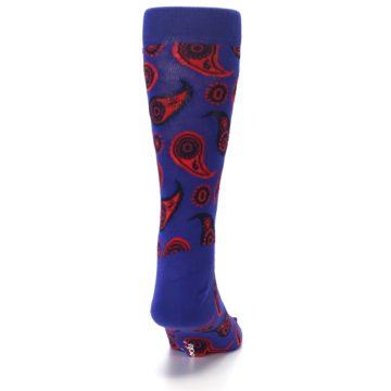 Image of Violet Red Paisley Men's Dress Socks (back-19)