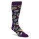 Plum paisley men's novelty dress socks by Happy Sock