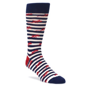 navy white red mens lizard novelty socks by unsimply stitched