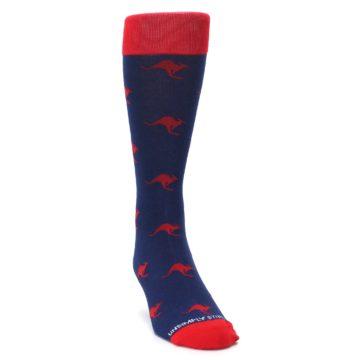 Image of Navy Red Kangaroos Men's Dress Socks (side-1-front-03)