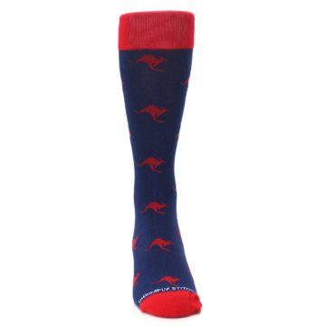 Image of Navy Red Kangaroos Men's Dress Socks (front-04)