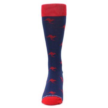 Image of Navy Red Kangaroos Men's Dress Socks (front-05)