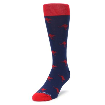 Image of Navy Red Kangaroos Men's Dress Socks (side-2-front-07)