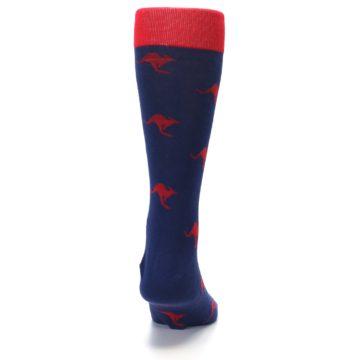 Image of Navy Red Kangaroos Men's Dress Socks (back-19)