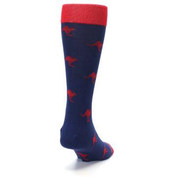 Image of Navy Red Kangaroos Men's Dress Socks (side-1-back-20)