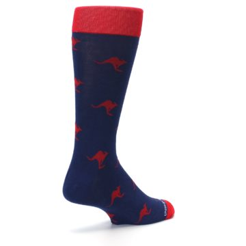 Image of Navy Red Kangaroos Men's Dress Socks (side-1-back-22)