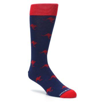 Image of Navy Red Kangaroos Men's Dress Socks (side-1-27)