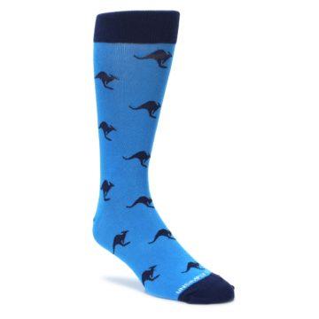 blue navy kangaroo mens novelty dress socks by unsimply stitched