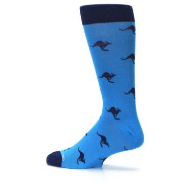 Image of Light Blue Navy Kangaroos Men's Dress Socks (side-2-13)