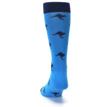 Image of Light Blue Navy Kangaroos Men's Dress Socks (back-17)