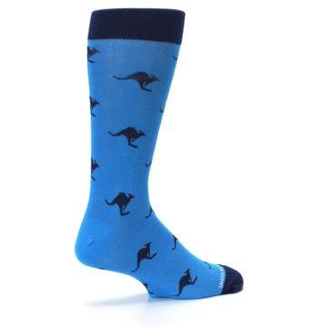 Image of Light Blue Navy Kangaroos Men's Dress Socks (side-1-23)