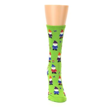 Image of Lime Green Gnomes Women's Dress Socks (front-04)