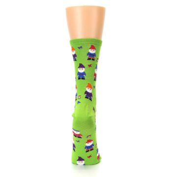 Image of Lime Green Gnomes Women's Dress Socks (back-19)