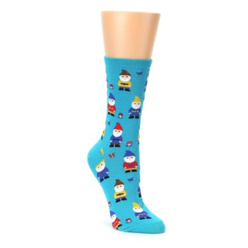 blue multicolor womens novelty garden dress socks by socksmith