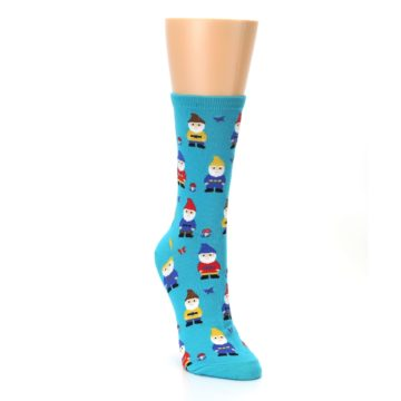 Image of Blue Gnomes Women's Dress Socks (side-1-front-02)