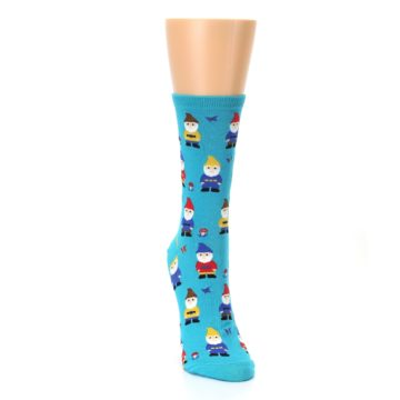 Image of Blue Gnomes Women's Dress Socks (side-1-front-03)