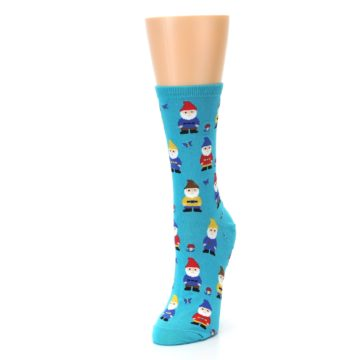 Image of Blue Gnomes Women's Dress Socks (side-2-front-07)