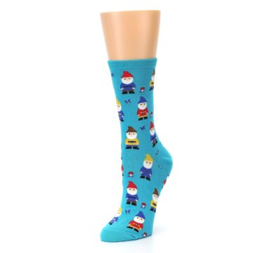 Image of Blue Gnomes Women's Dress Socks (side-2-front-08)