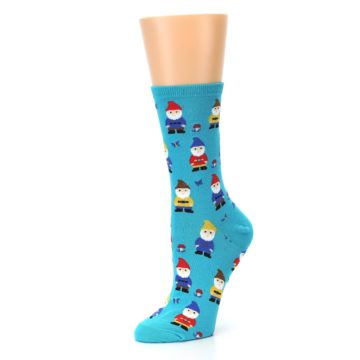 Image of Blue Gnomes Women's Dress Socks (side-2-09)