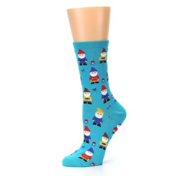 Image of Blue Gnomes Women's Dress Socks (side-2-10)