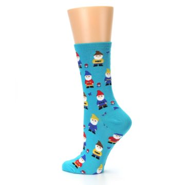 Image of Blue Gnomes Women's Dress Socks (side-2-13)