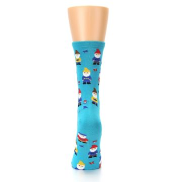 Image of Blue Gnomes Women's Dress Socks (back-18)