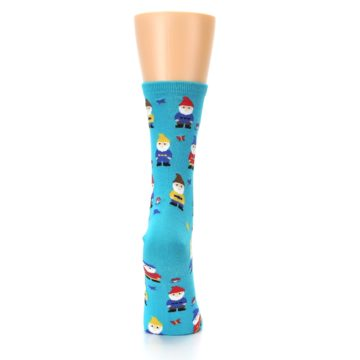 Image of Blue Gnomes Women's Dress Socks (back-19)