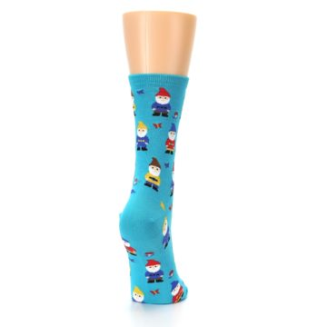 Image of Blue Gnomes Women's Dress Socks (side-1-back-20)