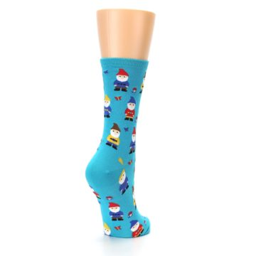 Image of Blue Gnomes Women's Dress Socks (side-1-back-21)