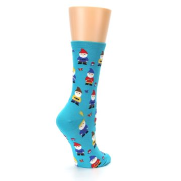 Image of Blue Gnomes Women's Dress Socks (side-1-back-22)