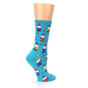 Image of Blue Gnomes Women's Dress Socks (side-1-23)