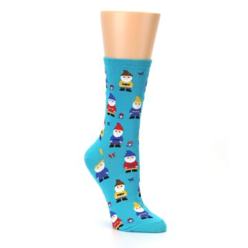 Image of Blue Gnomes Women's Dress Socks (side-1-27)