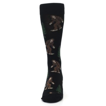 Image of Black Brown Bigfoot XL Men's Dress Socks (front-05)