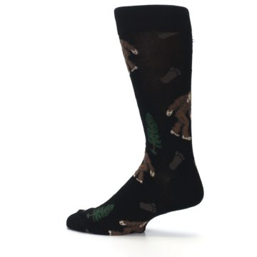 Image of Black Brown Bigfoot XL Men's Dress Socks (side-2-13)