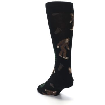 Image of Black Brown Bigfoot XL Men's Dress Socks (side-2-back-16)