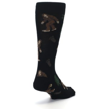 Image of Black Brown Bigfoot XL Men's Dress Socks (side-1-back-21)