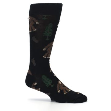 Image of Black Brown Bigfoot XL Men's Dress Socks (side-1-25)