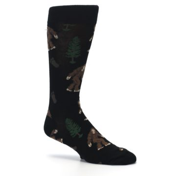 Image of Black Brown Bigfoot XL Men's Dress Socks (side-1-26)