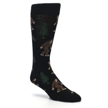 Image of Black Brown Bigfoot XL Men's Dress Socks (side-1-27)