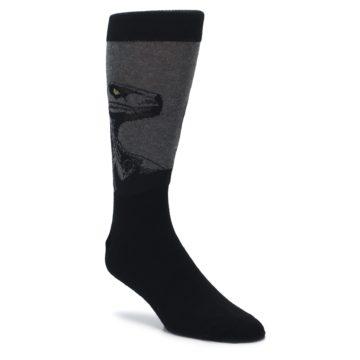 black grey dinosaur novelty dress socks by socksmith