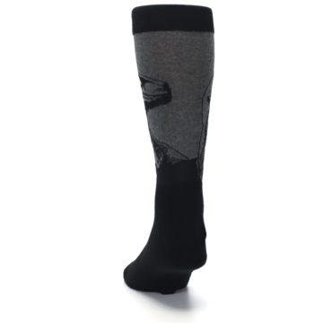 Image of Grey Black Raptor Dinosaur XL Men's Dress Socks (back-17)