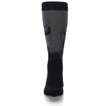 Image of Grey Black Raptor Dinosaur XL Men's Dress Socks (back-18)