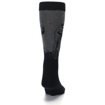 Image of Grey Black Raptor Dinosaur XL Men's Dress Socks (back-19)